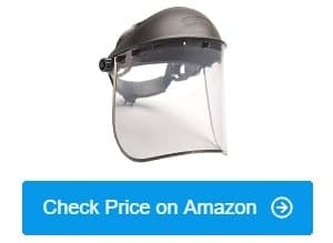 Easy to Clean Adjustable Pack of 10 Protective Film MUST Be Peeled Off Transparent Safety Face Shield Full Protection Cap Wide Visor
